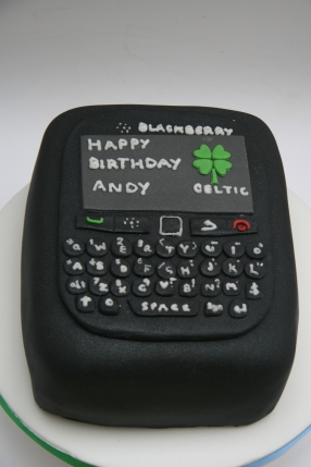 For those people permanently glued to their mobiles, how about a Blackberry Cake?