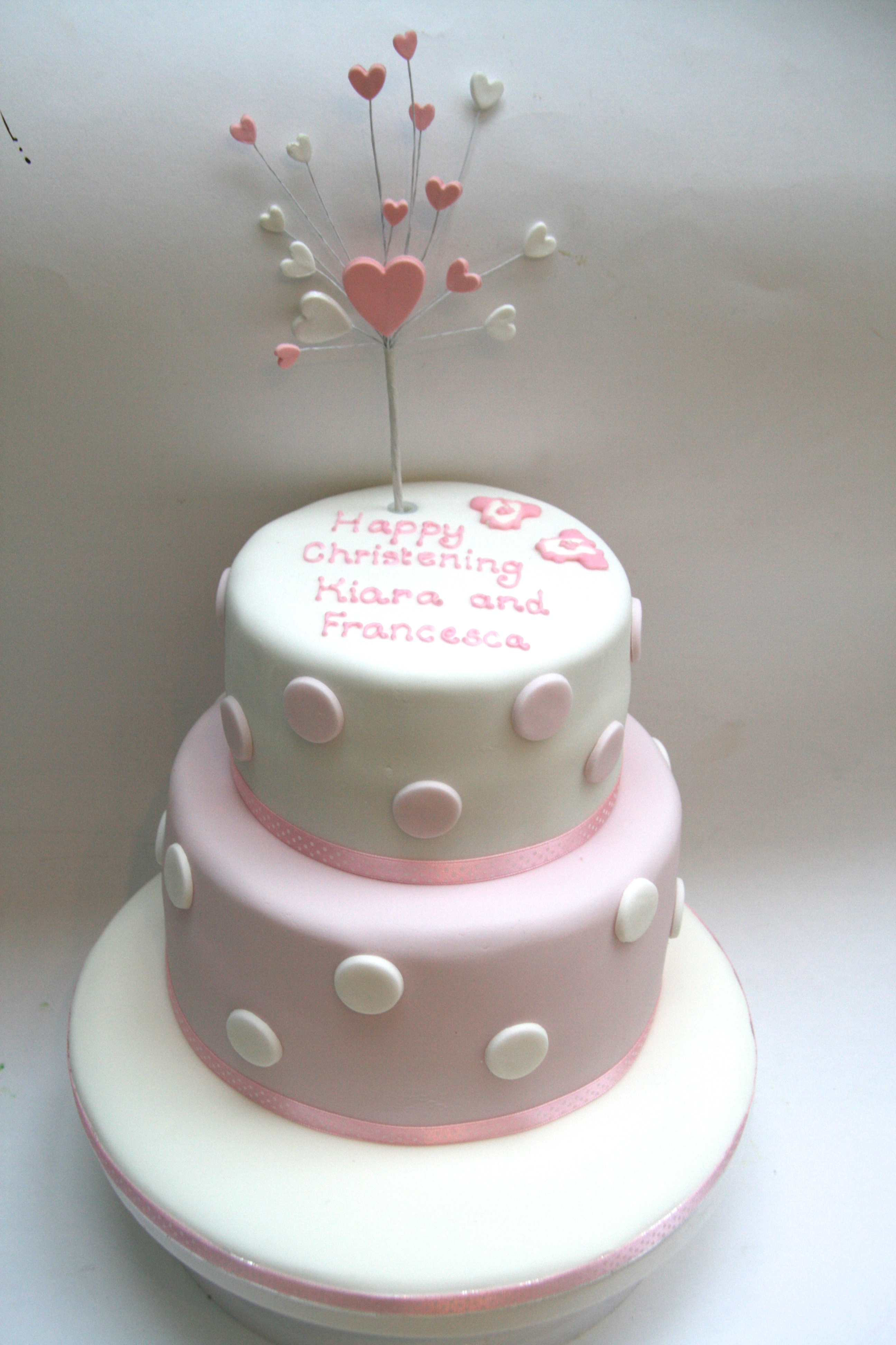 Christening Cake Designs For Twins : Twins Christening Cake Etoile Bakery