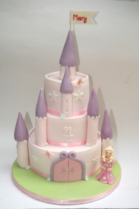 What little princess wouldn't like a castle with turrets and sparkly stars and their name on the flag at the top?