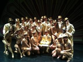 The Cast of A Chorus Line and an Etoile Cake