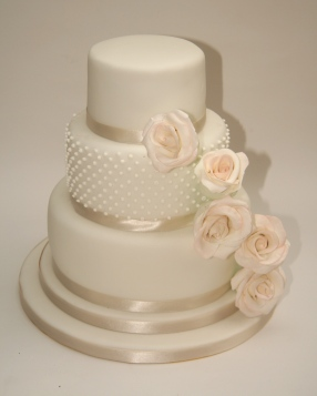 Rose Swathe Wedding Cake