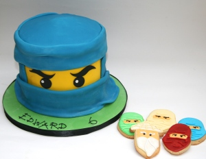 Ninjago cake and biscuits