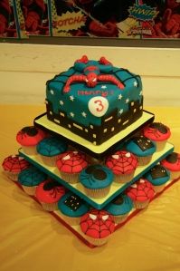 Spiderman Tower Cake