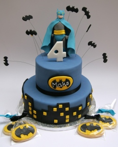 Batman Cake and Cookies