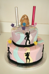 Disco and cuddly toy cake
