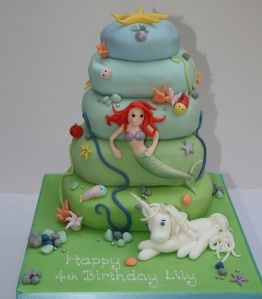 Mermaid and Unicorn Cake