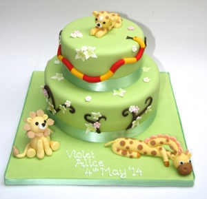 Jungle Christening Cake