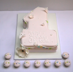 Number 1 Cake with Bunting