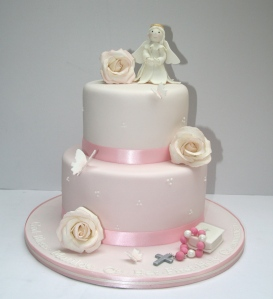 Tiered First Communion Cake