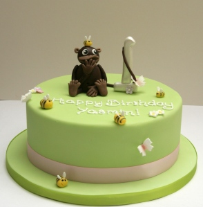 Cheeky Monkey and Bumble Bee Cake
