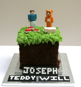 Minecraft and Stampy Cake