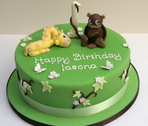 Cheeky Monkey and Giraffe Cake