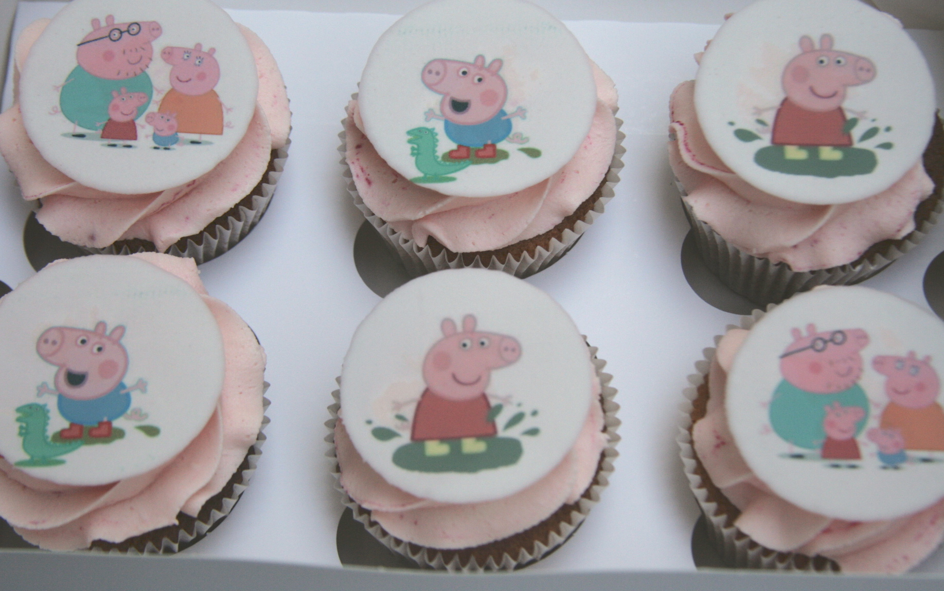 how to make peppa pig cupcakes