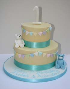 White Chocolate Ganache 1st Birthday Cake