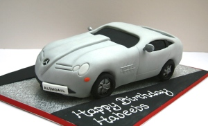 Mercedes Sports Car Birthday Cake
