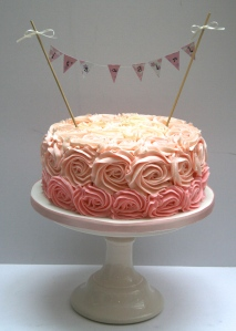 Rose cake for Babyshower