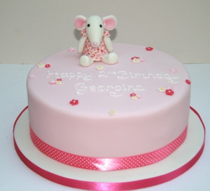 Mouse Cuddly Toy Birthday Cake