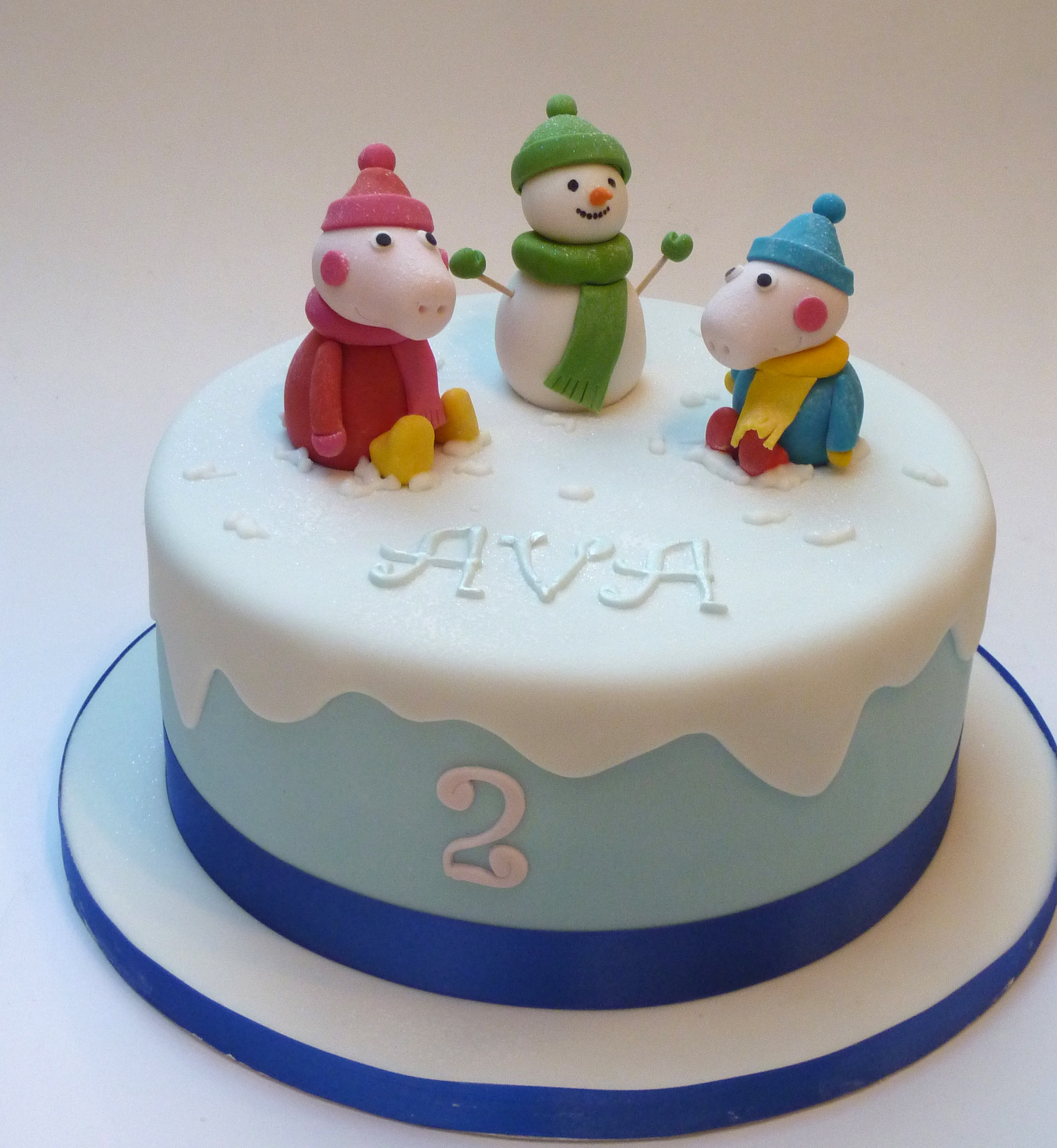 Cake Making Classes Northumberland : Peppa Pig Snowy Day Etoile Bakery