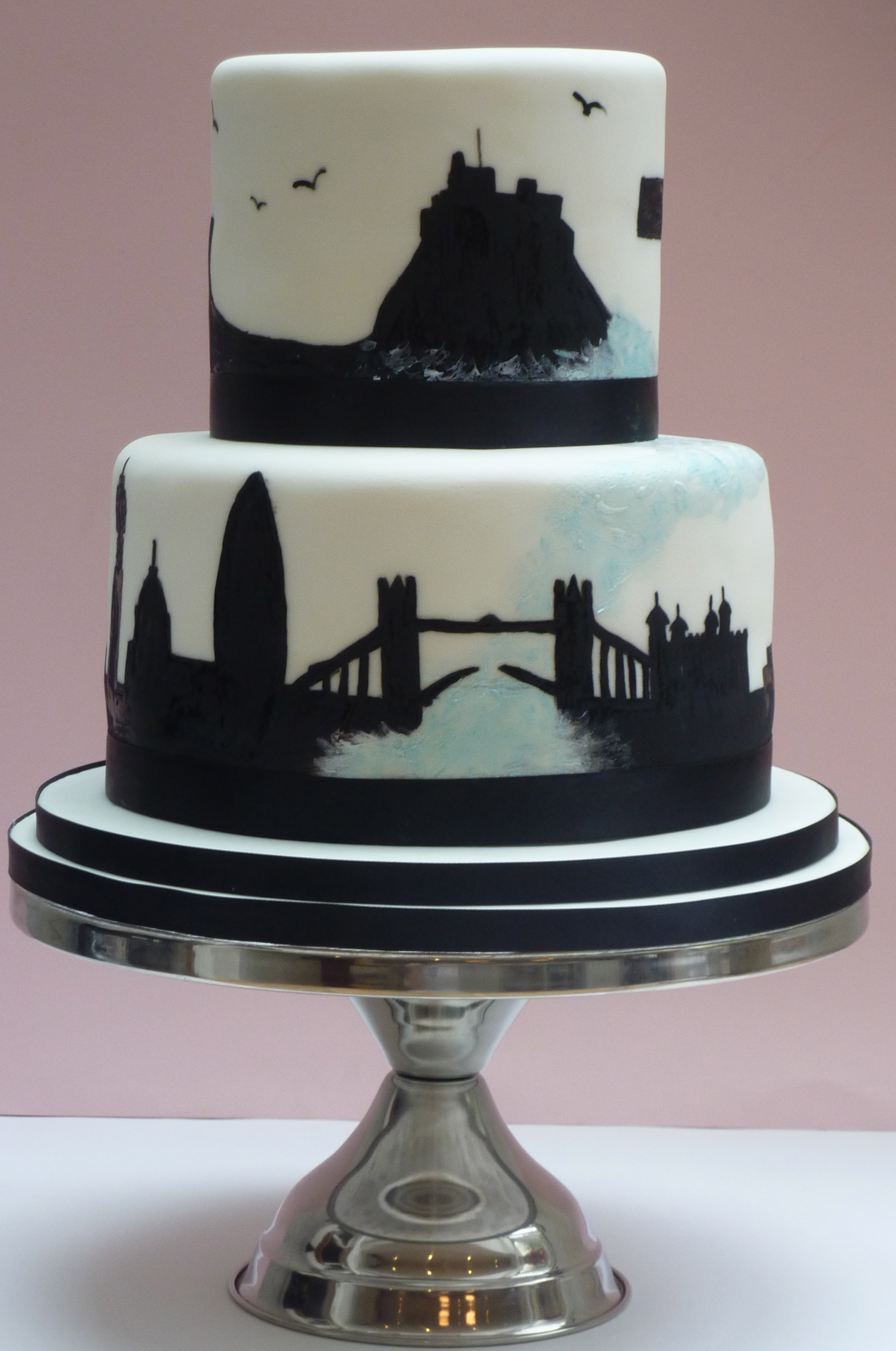 wedding cake courses london uk and northumberland silhouette wedding cake etoile 22276