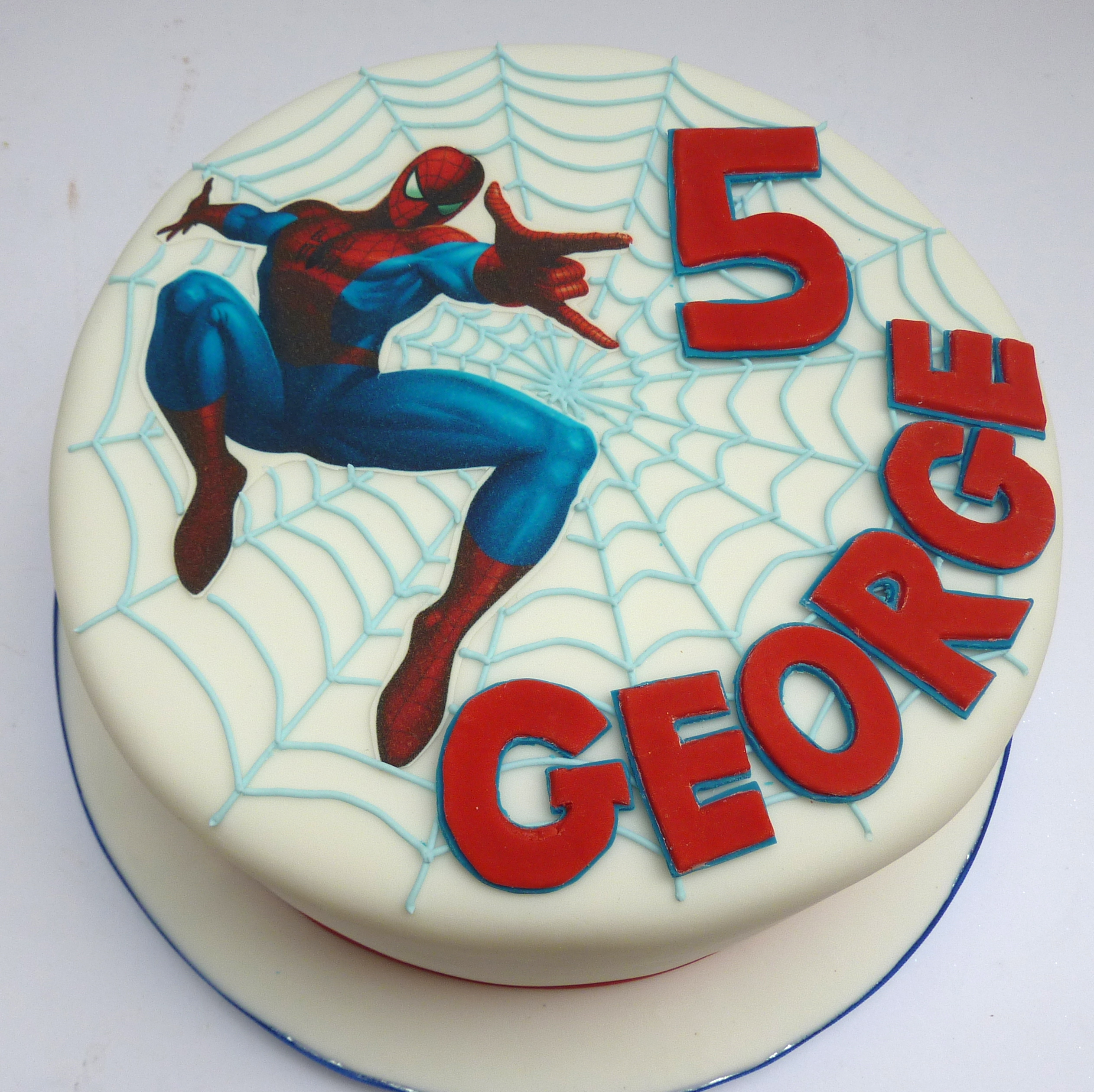 Spiderman Birthday Cakes Pictures
