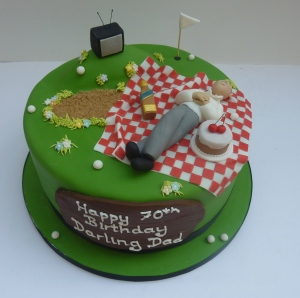 Men's 70th Birthday Cake