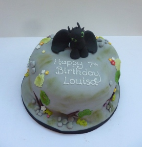 Toothless Cake from How to Train A Dragon