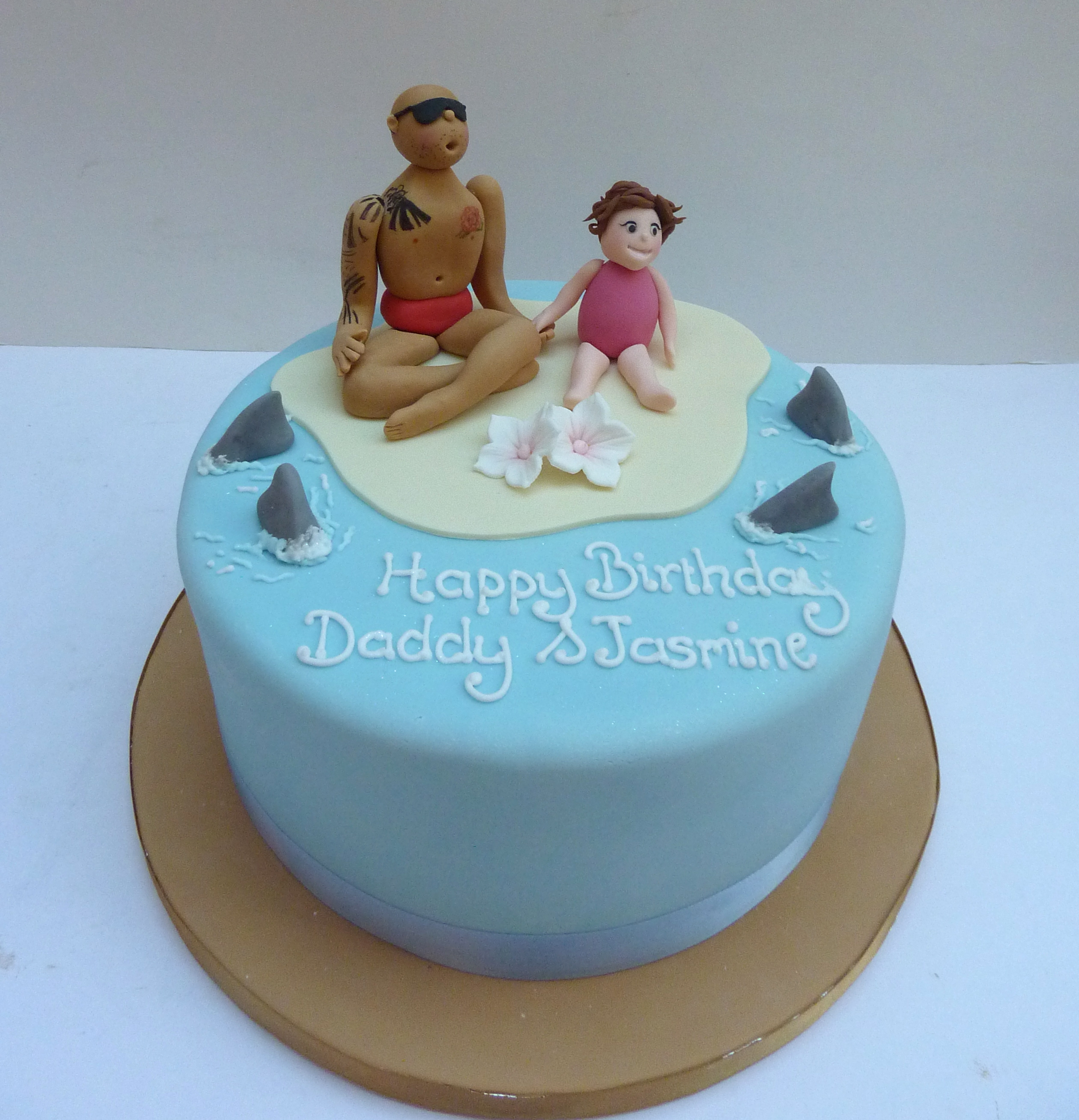 beach father and daughter birthday cake Etoile Bakery