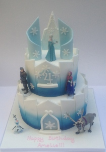 Frozen Castle Cake London