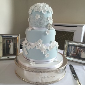 Wedgewood Blue Wedding Cake