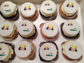 Little Princess Printed Cupcakes