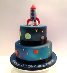 Tiered Rocket Space Cake