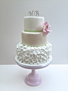 Hydrangea Skirt Wedding Cake