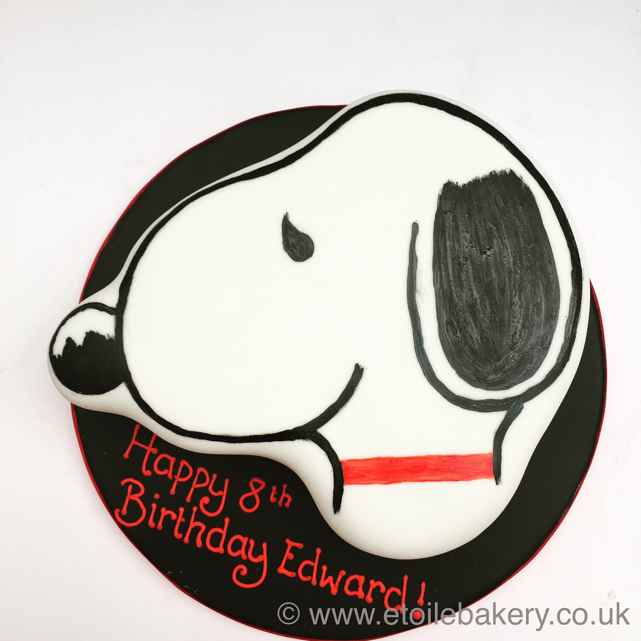 snoopy birthday cake london Etoile Bakery