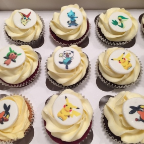 Printed pokemon cupcakes
