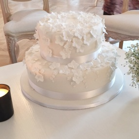 Small Tumbling Blossom Wedding Cake