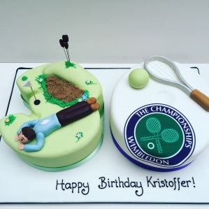 Sporty 30th Birthday Cake