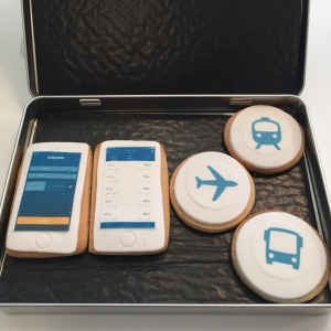 Tin of Travel Themed Biscuits