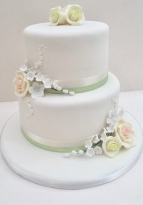 Small Sugar Flower Wedding Cake