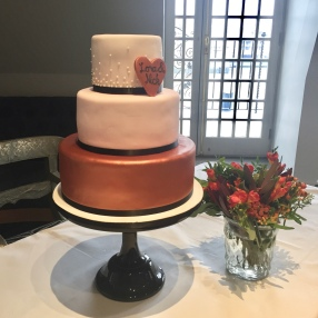 Copper Inspired Wedding Cake
