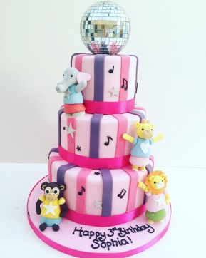 Disco Cake with Animals