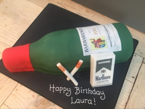 Wine and fags cake