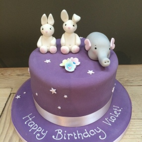 Bunny and Elephant Cake