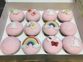 Rainbow and Butterfly Cupcakes
