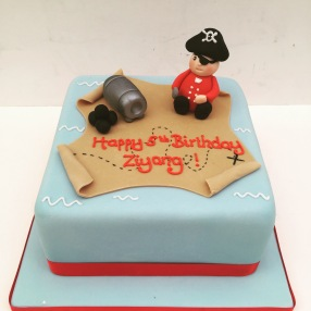 Square Pirate Cake