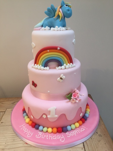 My Little Pony Tiered Cake
