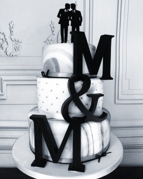 Monochrome and Marble Wedding Cake