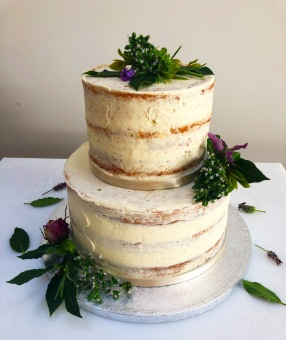 Semi Naked Cake With Herbs